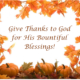 ThanksGiving Offering December 2, 2018