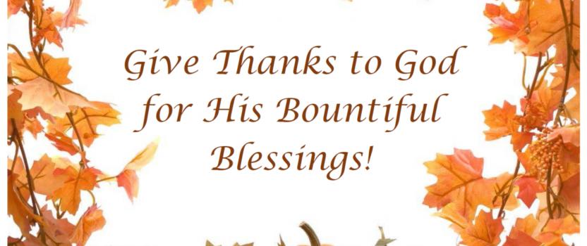ThanksGiving Offering December 2, 2018